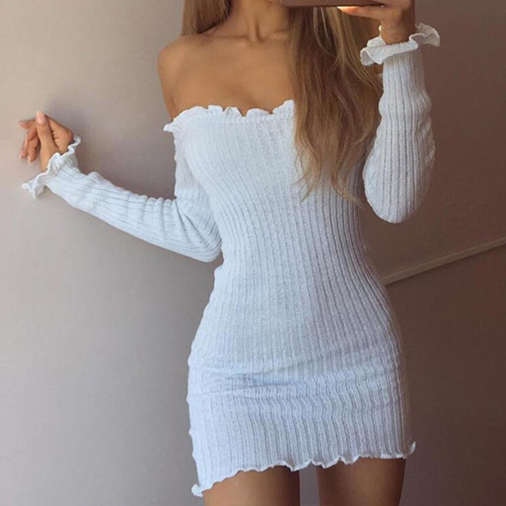 Felicia Off Shoulder Knitted Dress