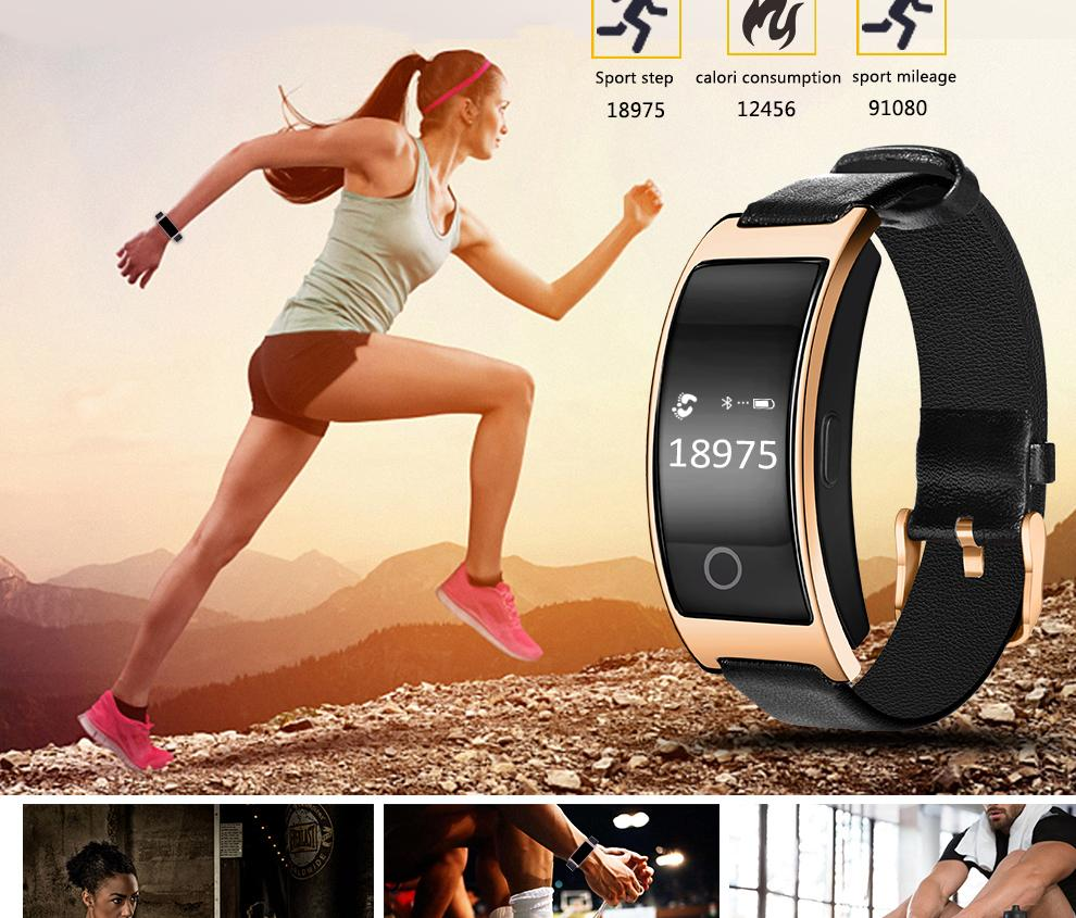 Blood Pressure Pedometer Smart Watch