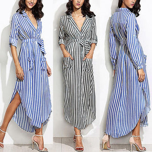 Brianna - Striped Summer Dress