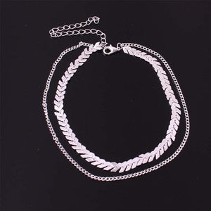 Arrow Wave Chain Necklace