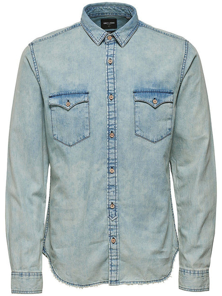 Washed Light Denim Shirt