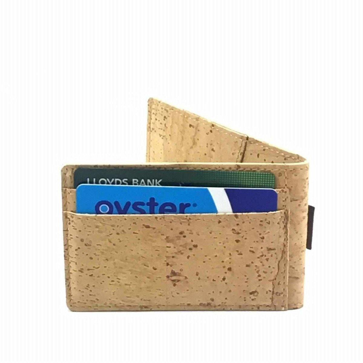 Cork Card Holder Fold able & Slim - Moddanio