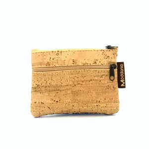 Cork Coin Purse Large with Zip - Moddanio