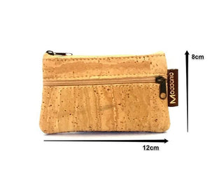 Cork Coin Purse with Zip - Moddanio