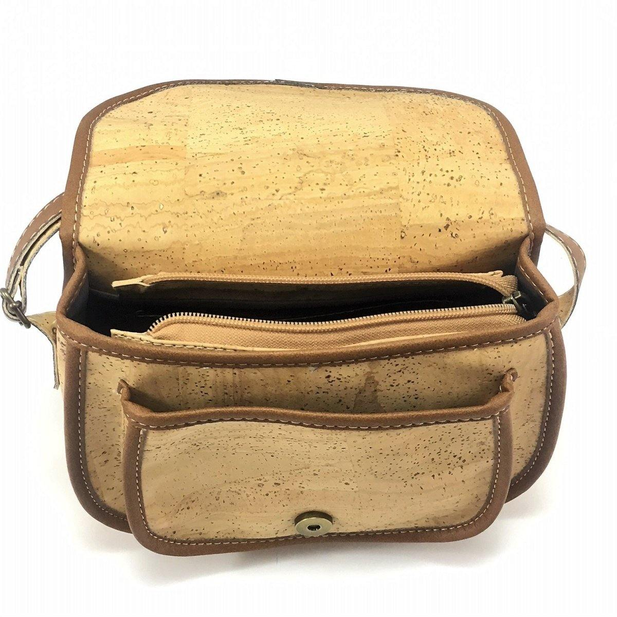 Cork Crossbody Bag Fauxy Mini, Vegan Leather - Moddanio