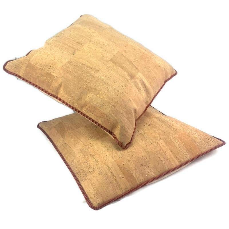 Cork Cushion Covers Natural with Trim - Moddanio