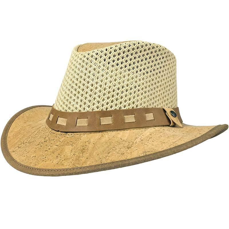 Cork Sun Hat with Net - Moddanio