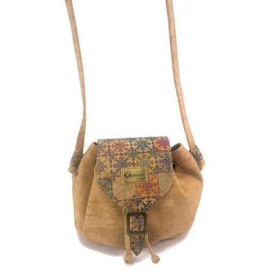 Cork Crossbody Rafaello Mini with Mosaic Design