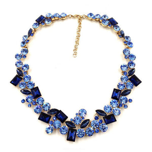 2018 Top Quality Full Crystal Fashion Necklace Choker Collar Statement Necklace For Women
