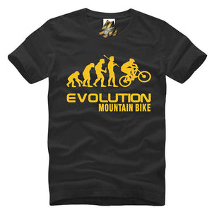 New For 2018 New Evolution Funny T Shirt Loose Cotton T-Shirt For Men Creative Biker MTB Tee Shirts XXXL