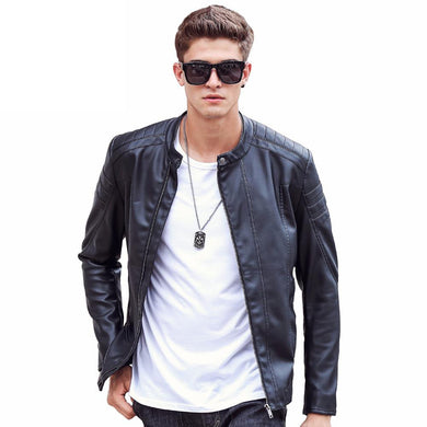 Men's Motorcycle Leather Jacket Autumn Spring Leather Clothing Men's Casual Leather Jackets
