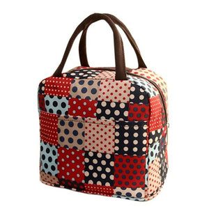Patchwork Tote Picnic Lunch Cool Bag Cooler Box Handbag Pouch #6m