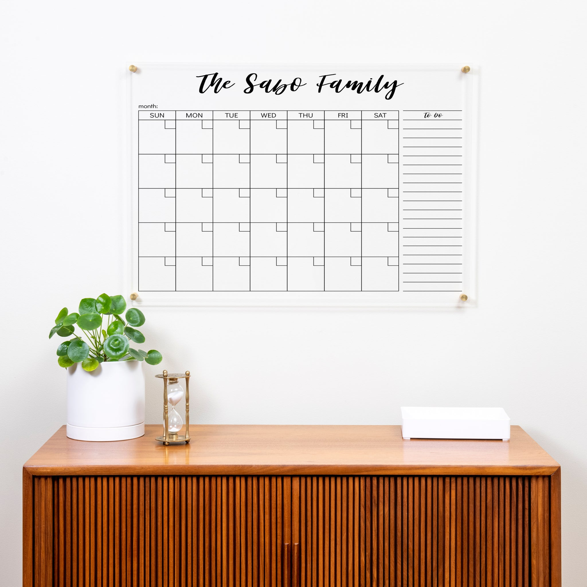 Personalized Acrylic Wall Calendar