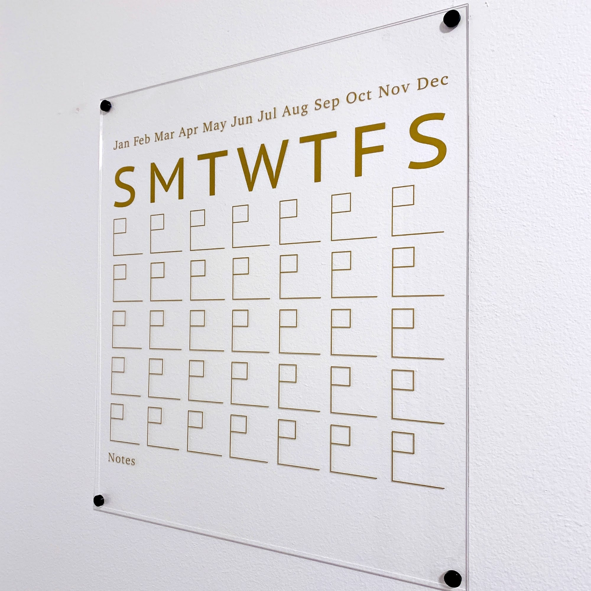 Acrylic Wall Calendar with Notes