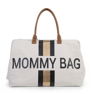 BOLSA MOMMY BAG CANVAS - LÍNEA NEGRA/DORADA