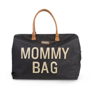 BOLSA MOMMY BAG - NEGRO/DORADO