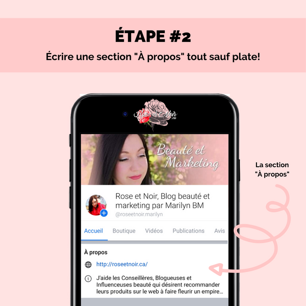 étape 2 page facebook attractive