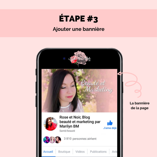 étape 3 page facebook attractive