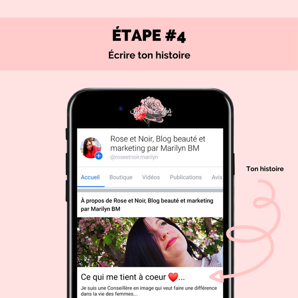 étape 4 page facebook attractive