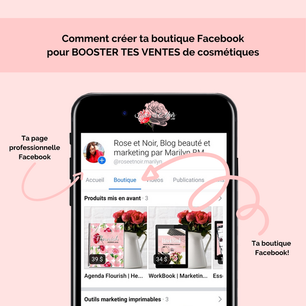 Exemple boutique Facebook