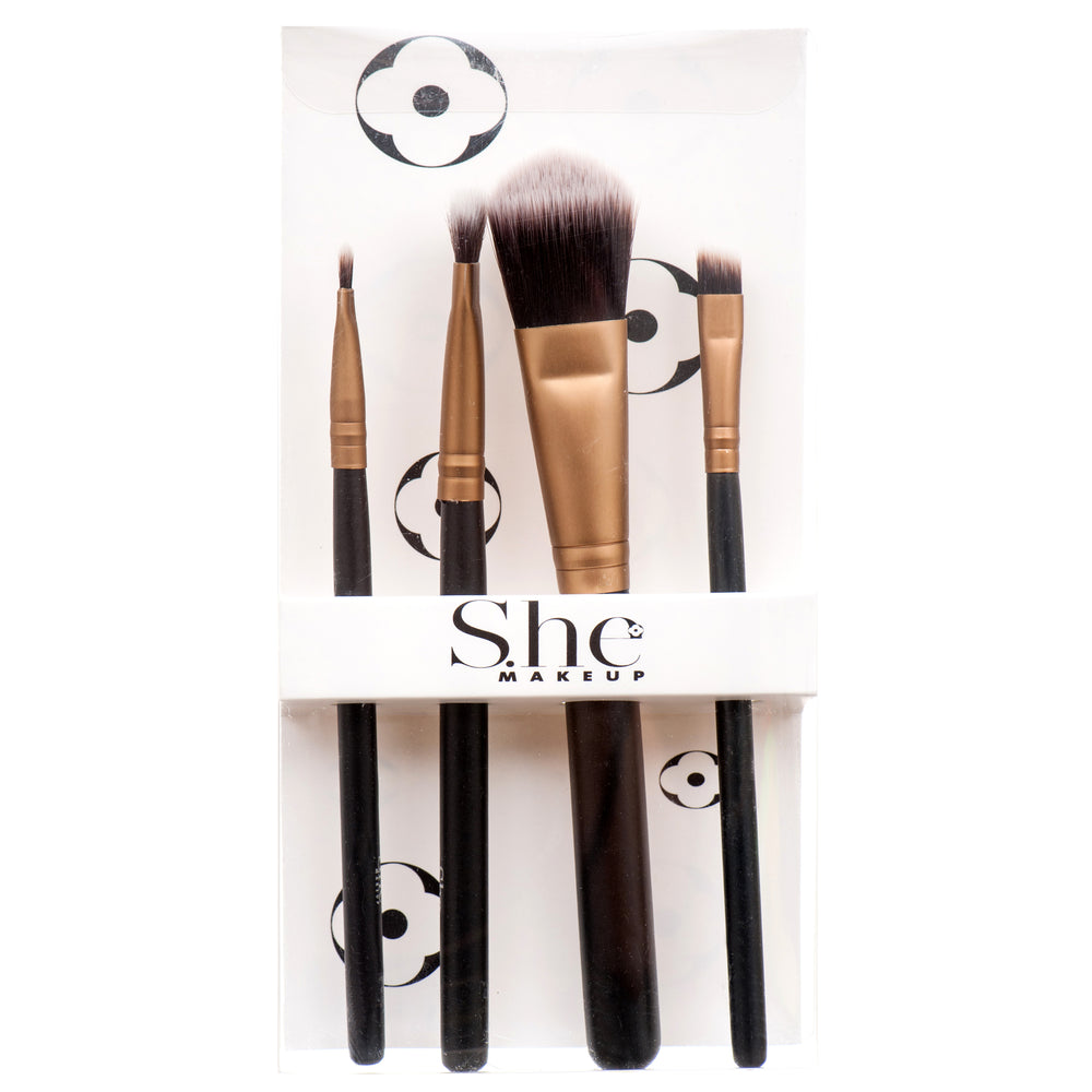 She Makeup Face and Eye Brush Set