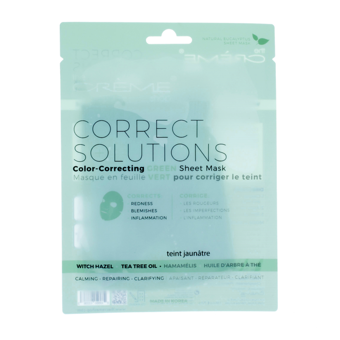The Creme Shop Correct Solutions Sheet Mask - Green