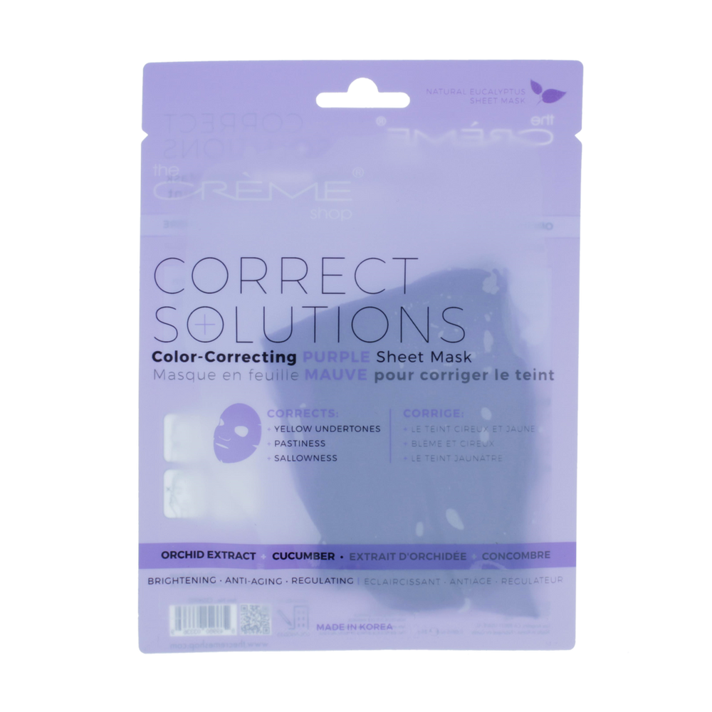 The Creme Shop Correct Solutions Sheet Mask - Purple
