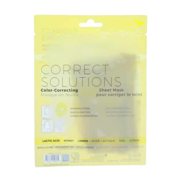 The Creme Shop Correct Solutions Sheet Mask - Yellow