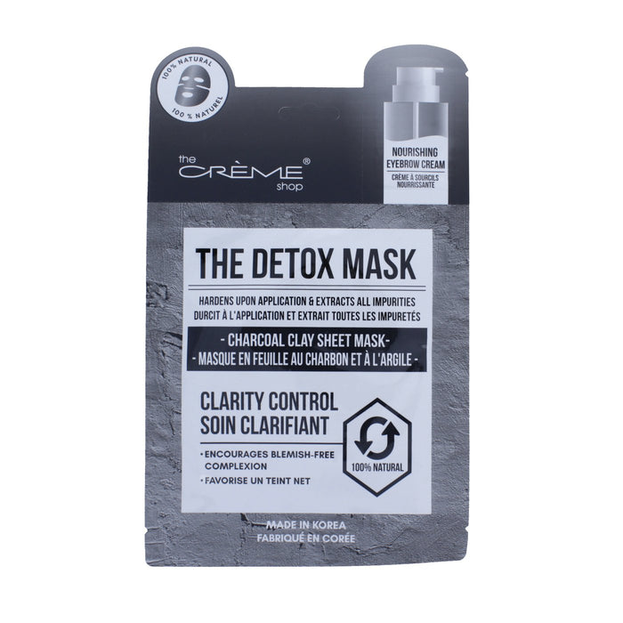 The Detox Mask - Charcoal Clay Sheet Mask