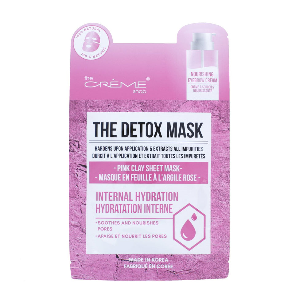 The Detox Mask - Pink Clay Sheet Mask