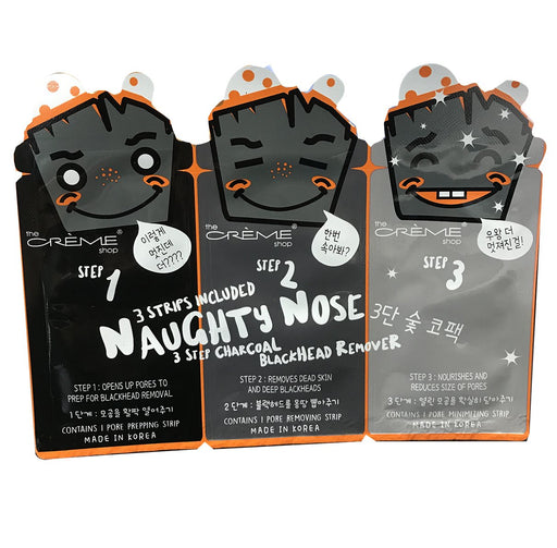 The Creme Shop Naughty Nose Charcoal 3 Step Blackhead Remover