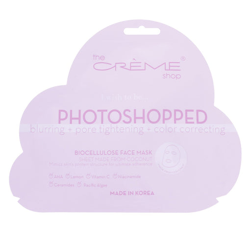 The Creme Shop Biocellulose Face Mask - Photoshopped