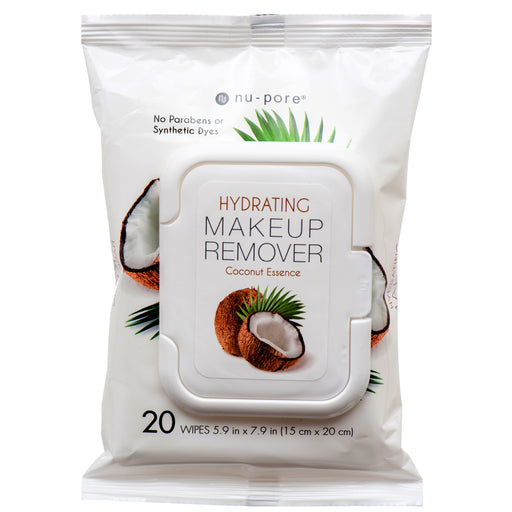 Nu Pore Hydrating Coconut Essence Makeup Remover Wipes