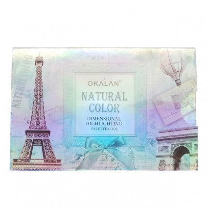 OKALAN Natural Color Dimensional Highlight Palette - Cool