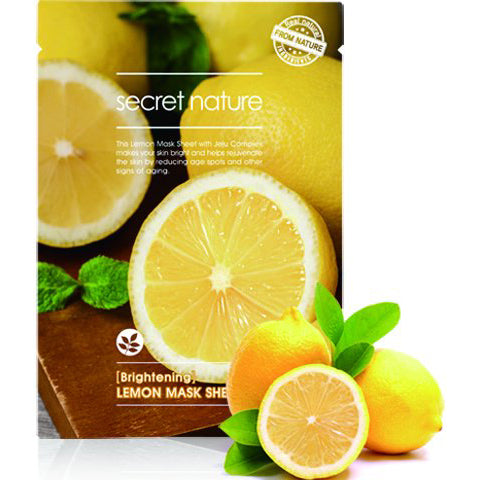 Secret Nature Brightening Lemon Sheet Mask