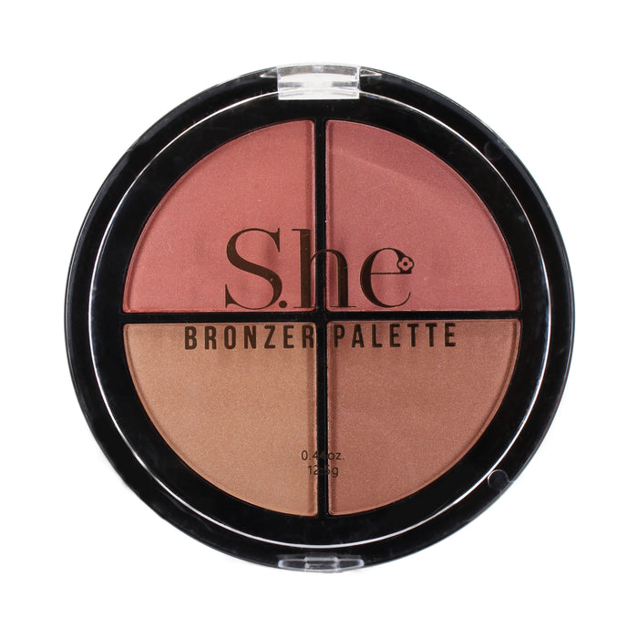 She Makeup Bronzer Quad Palette