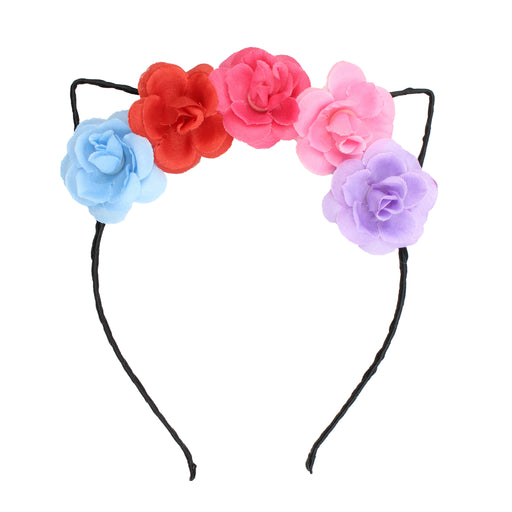 Floral Cat Ears Hair Band
