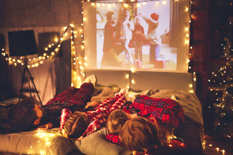 watching a holiday movie