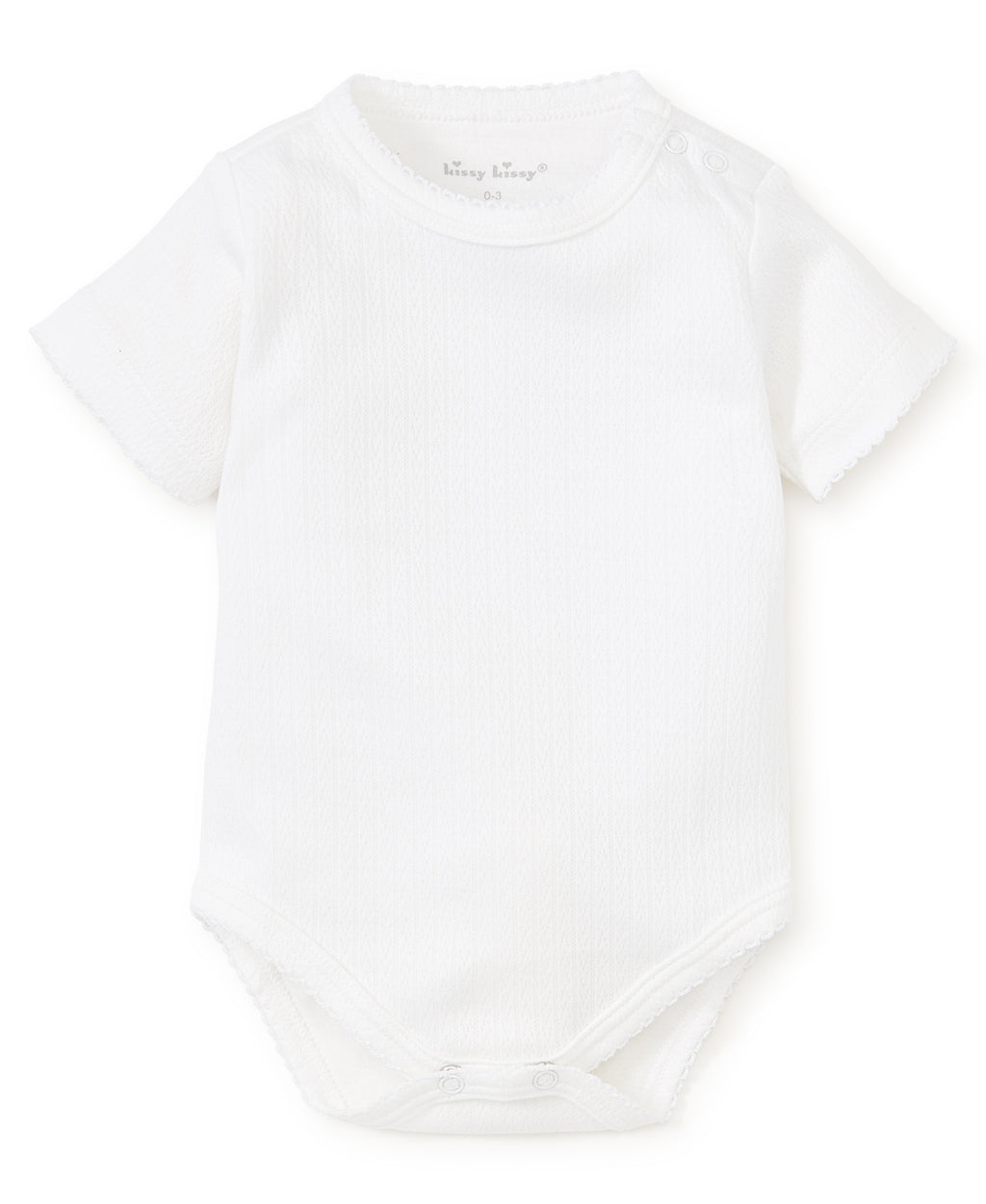 White Pointelle Short Sleeve Bodysuit