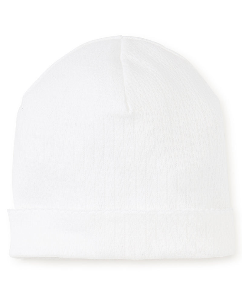 White Pointelle Hat