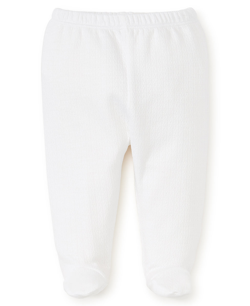 White Pointelle Footed Pant