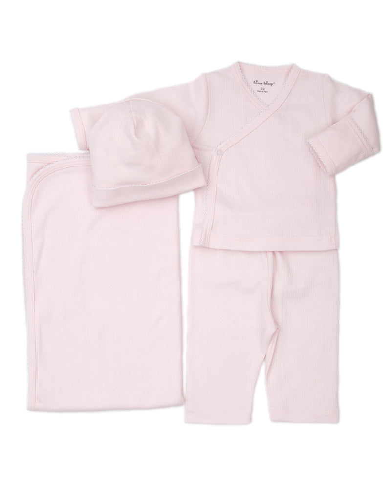Take Me Home Pink Pointelle Bundle Set