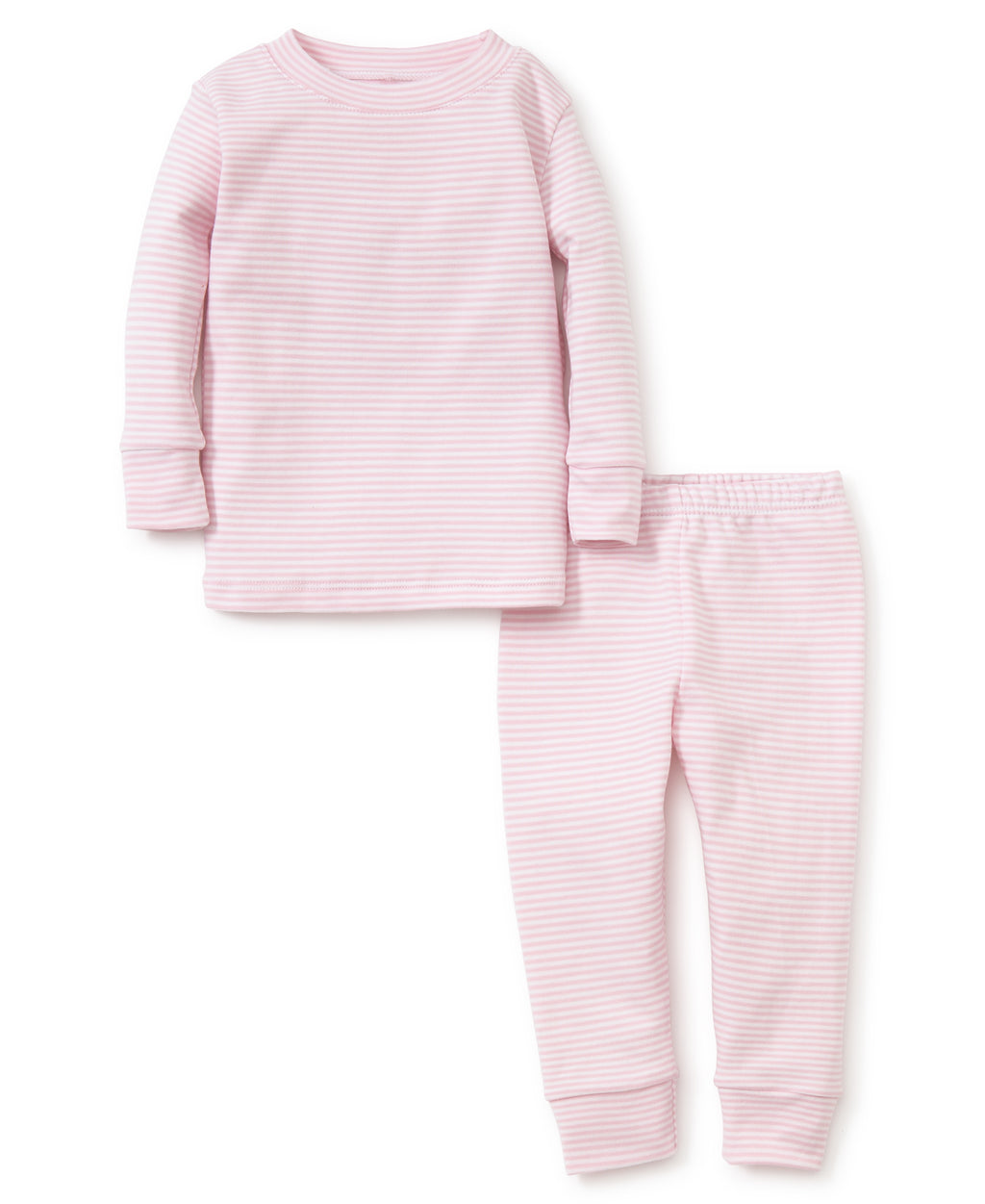 Pink Simple Stripes Pajama Set