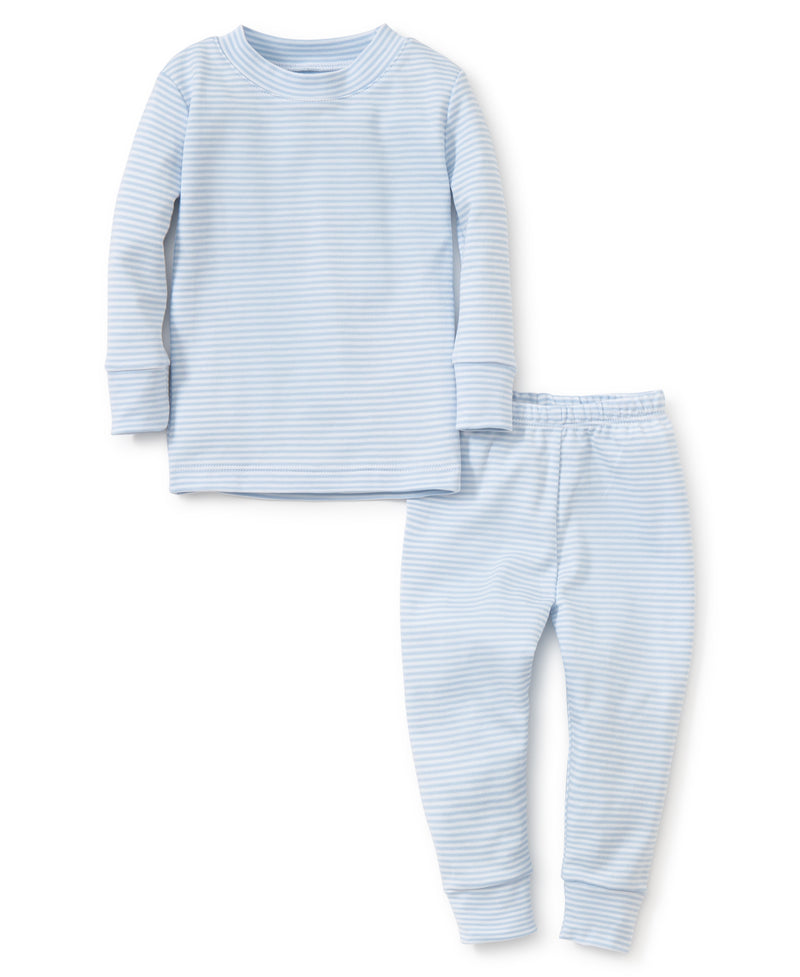 Blue Simple Stripes Pajama Set
