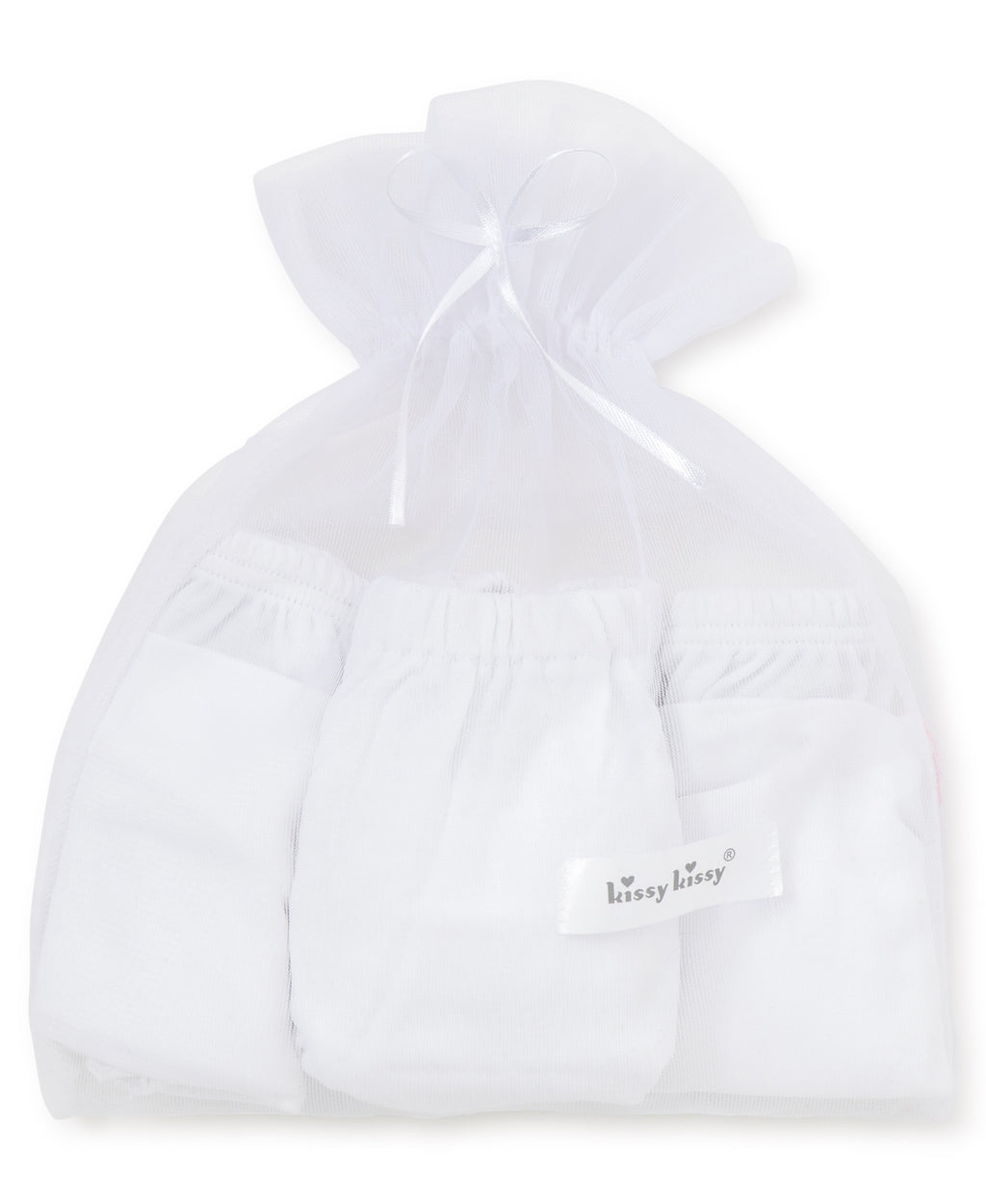 White Kissy Basics Diaper Cover Set