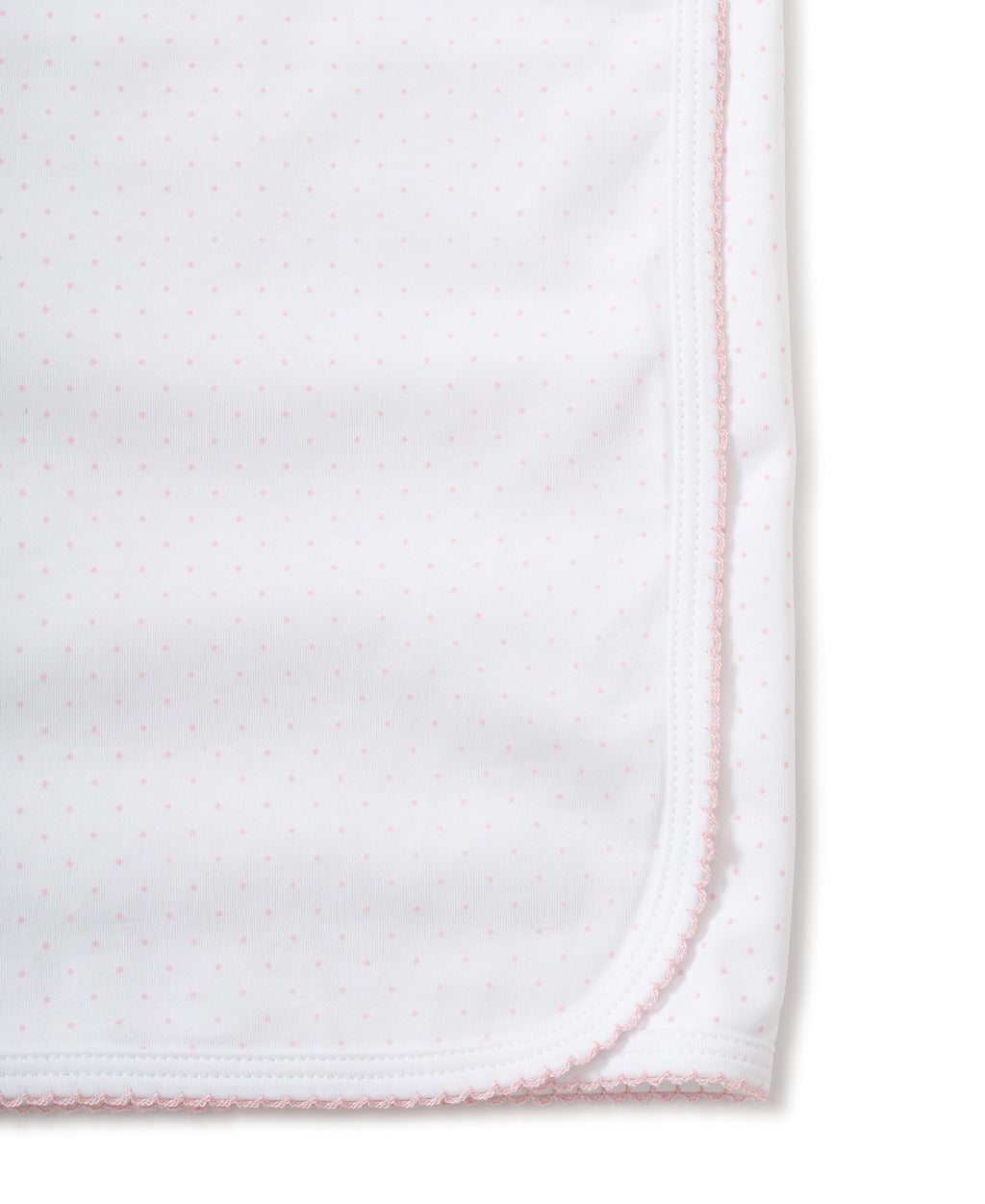 White/Pink New Kissy Dots Print Blanket