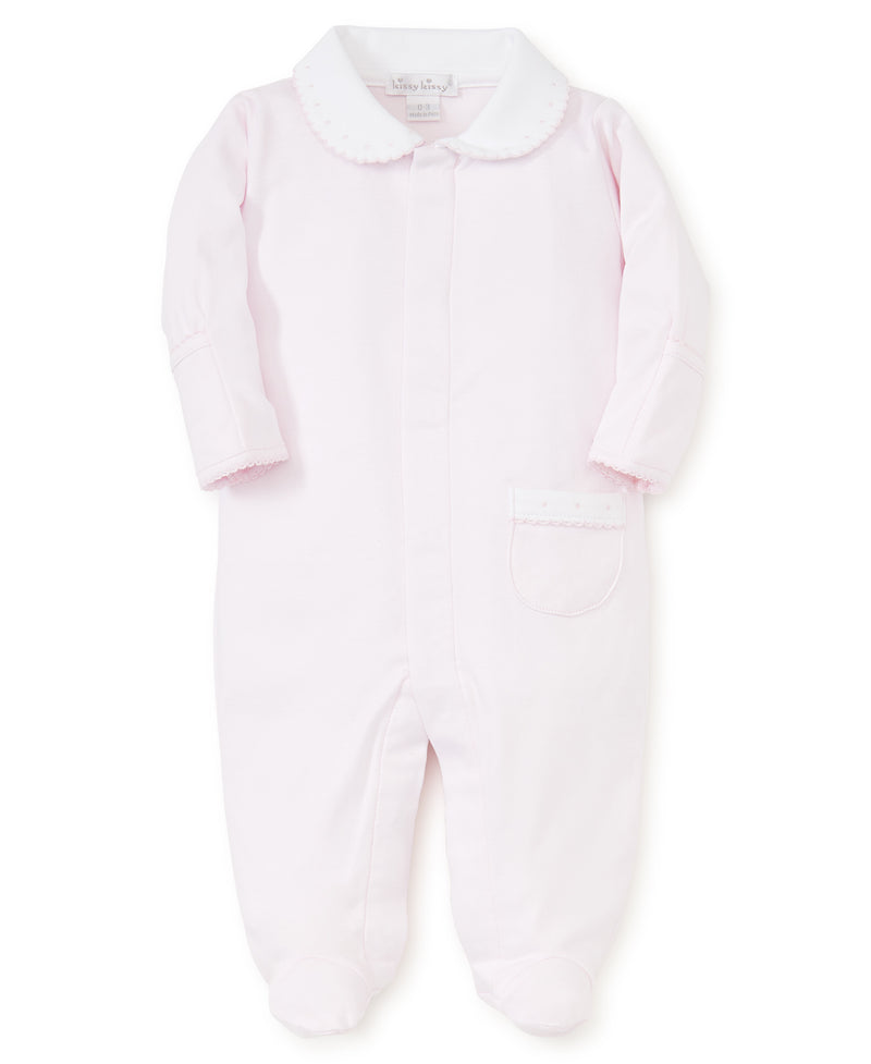 Pink Kissy New Beginnings Footie w/Collar