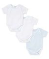 Blue Dot 3 Pack S/S Bodysuit Set w/ Tulle Bag