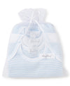 Blue Stripe 3 Pack S/S Bodysuit Set w/ Tulle Bag