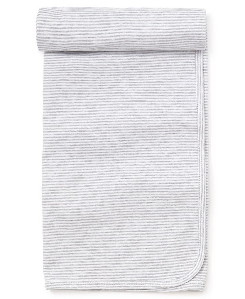 Gray Kissy Essentials Stripe Blanket